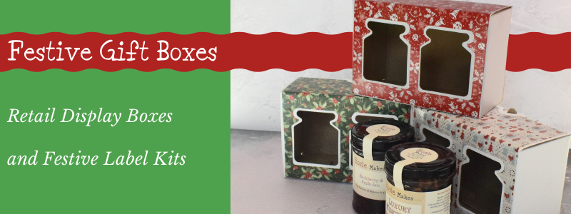 Festive Gift Boxes, Retail Display Boxes and label kits