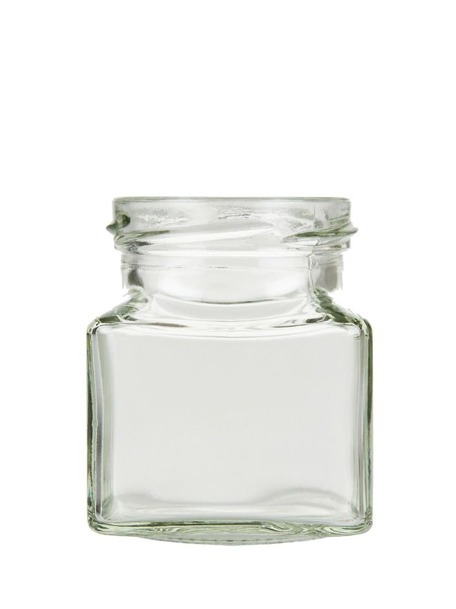 Jam Jars Square Glass 130ml