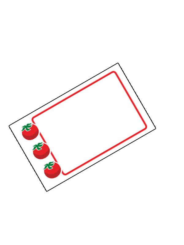 Jar Labels Tomato 63x38mm