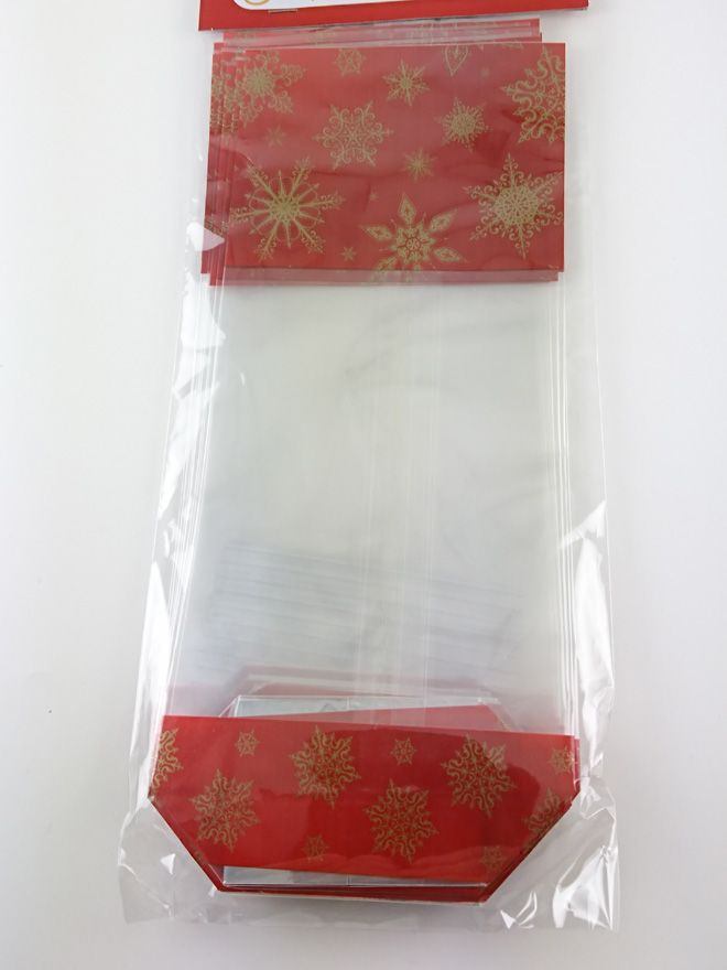 Gift Bag Gold Snowflake (10)