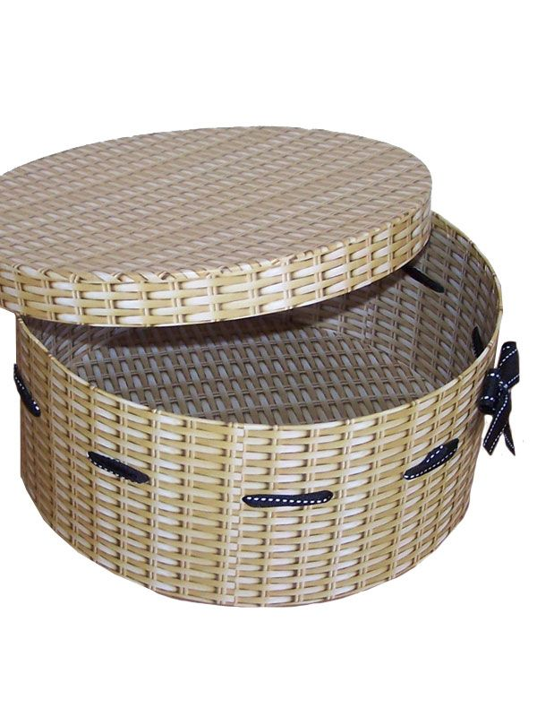 Card Hamper Round Box & Lid