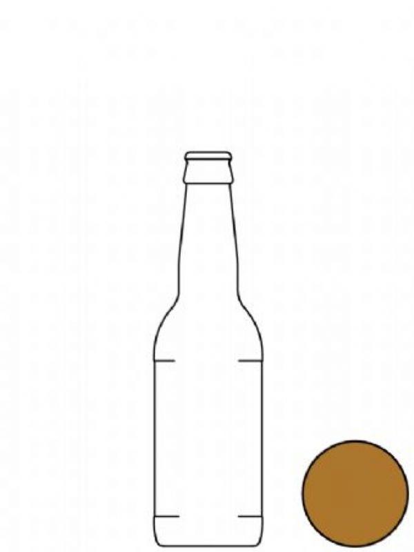 Glass Beer Bottle Amber 330ml