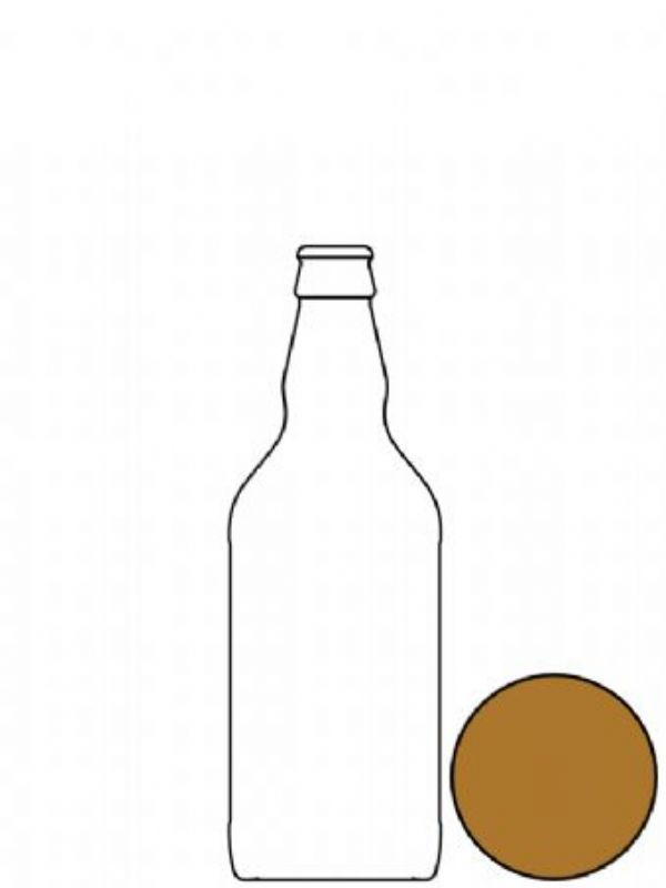 Glass Beer Bottle Amber 500ml