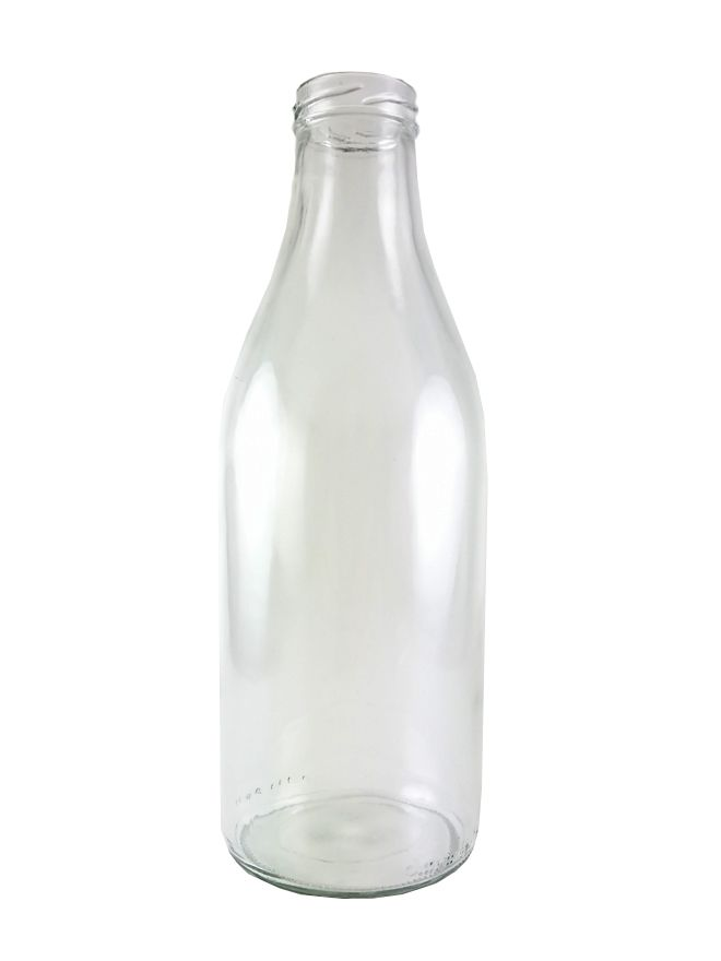 Glass Bevanto Milk Bottle 1000ml x15