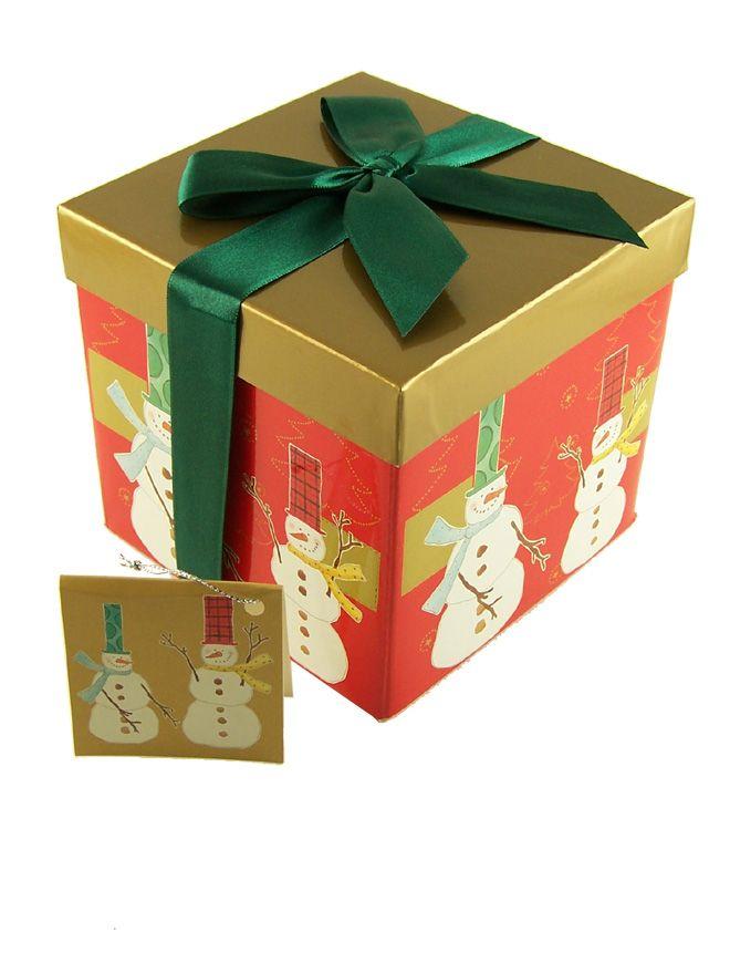 Gift Box Snowmen small