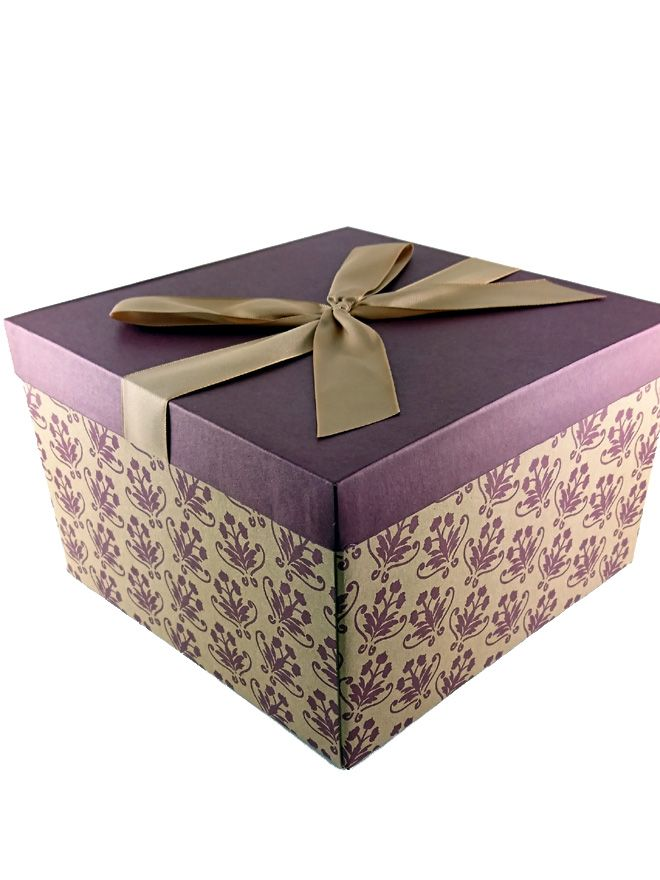 Gift Box Floral Burgundy Large