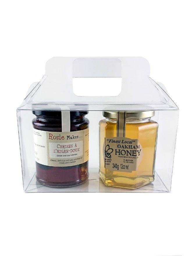 Carry Box 2 x 12oz jars Clear