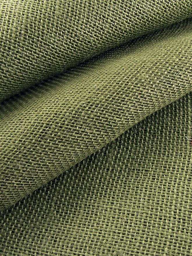Green Hessian Tablecloth