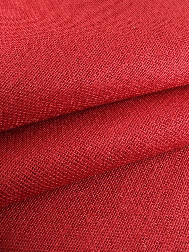 Red Hessian Tablecloth