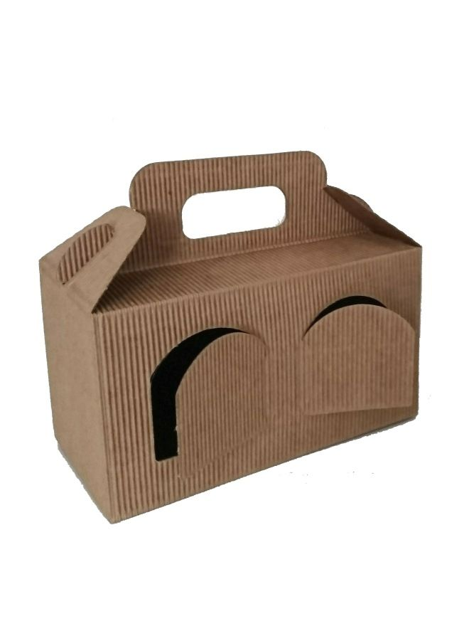 Carry Box 2 x 8oz jars Kraft pack (10)