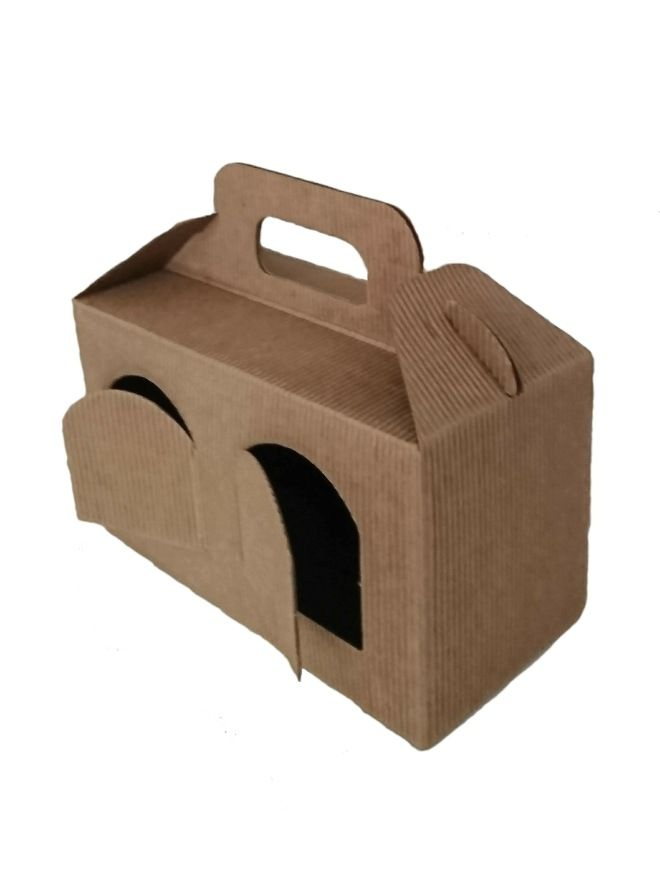 Carry Box 2 x 8oz jars Kraft