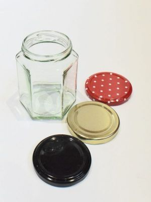 Jam Jars Hexagonal Glass 280ml (x30)