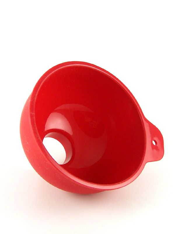 Jam Jar Funnel Red Silicone