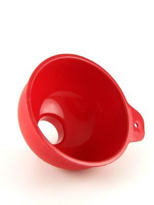 Love jam jars | Jam Jar Funnel Red Silicone