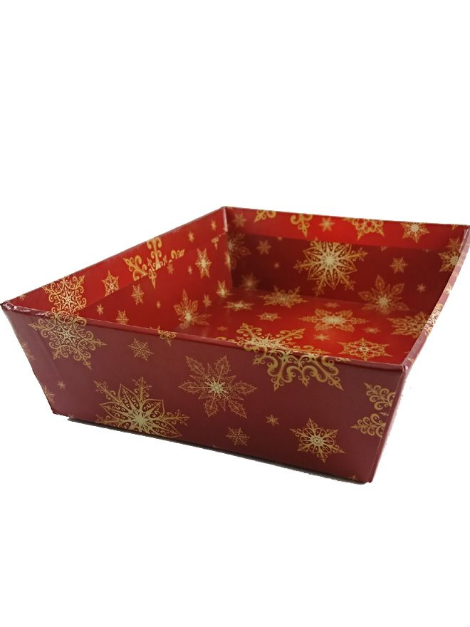 Gift Tray Gold Snowflake 8x6'