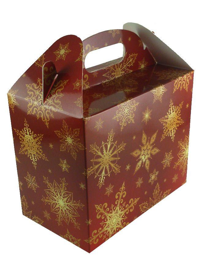 Carry Box 2 x 12oz jars Snowflakes (5)
