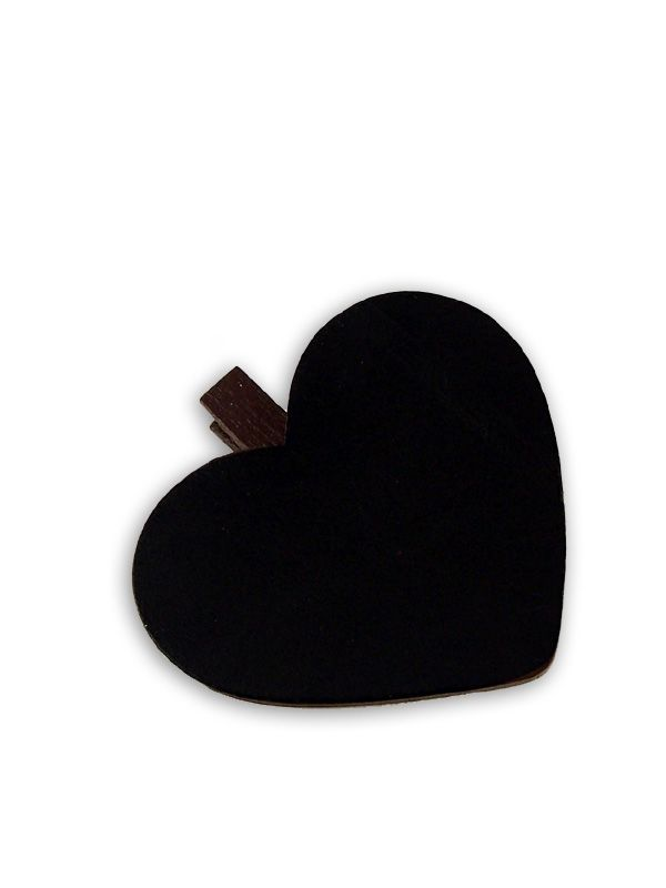 Blackboard Heart Peg
