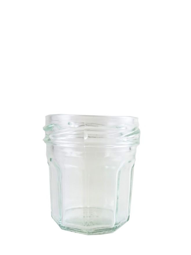 Jam Jars Round Glass Facetted 44ml (154)