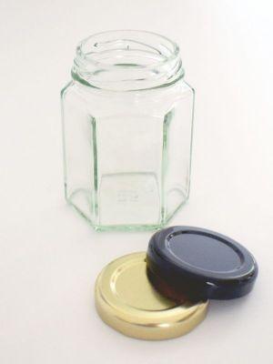 Jam Jars Hexagonal Glass 110ml