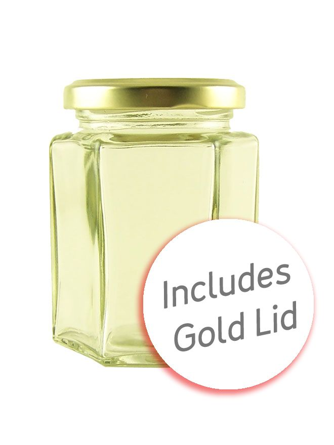 Hexagonal Jar 8oz/190ml with Gold Lid
