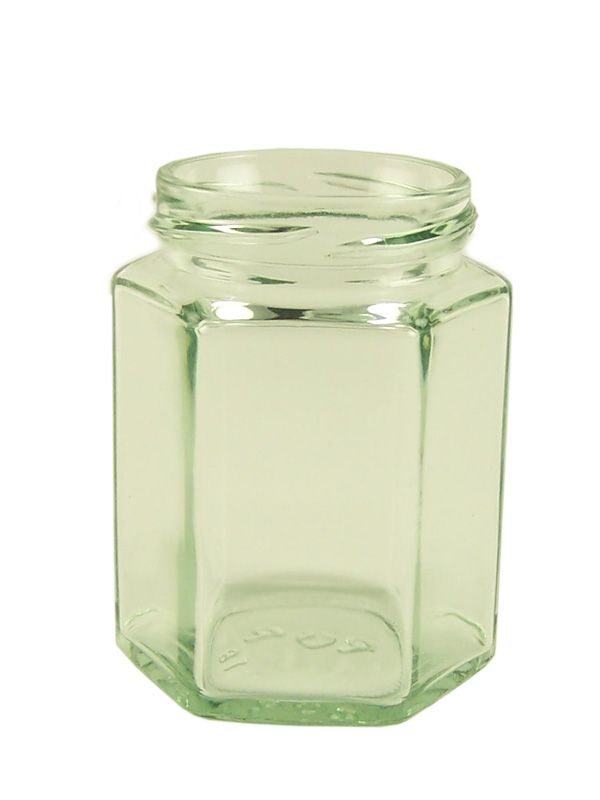 Jam Jars Hexagonal Glass 190ml/8oz (108)