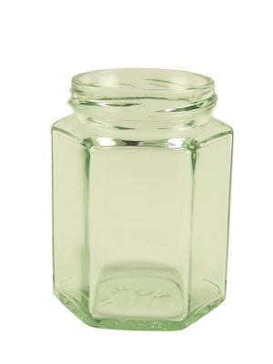 Love jam jars | Jam Jars Hexagonal Glass 190ml/8oz (36)