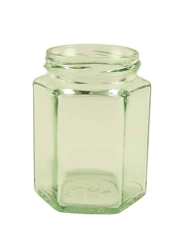 Jam Jars Hexagonal Glass 190ml/8oz (x36) 1