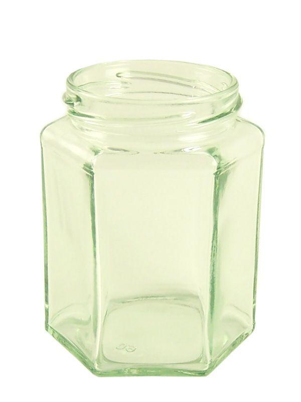 Jam Jars Hexagonal Glass 280ml/12oz (x84)
