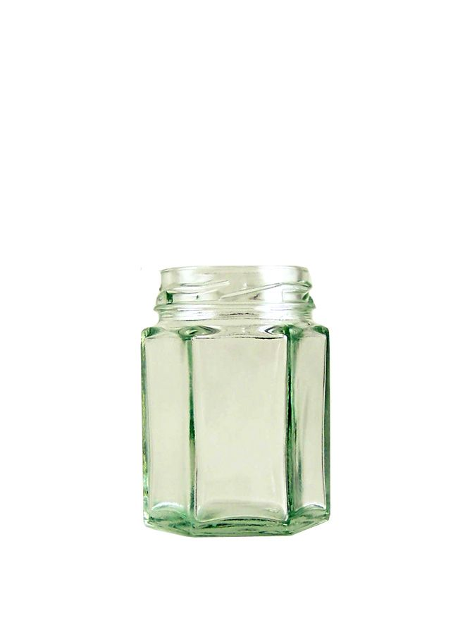 Jam Jars Hexagonal Glass 55ml (x76)