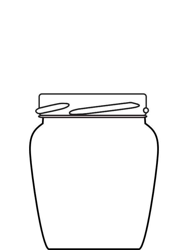 Jam Jar Oval 12oz 1