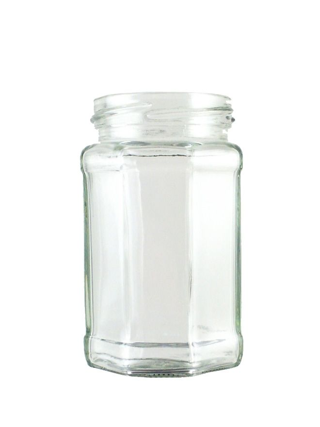 Jam Jars Octagonal Glass 280ml/12oz