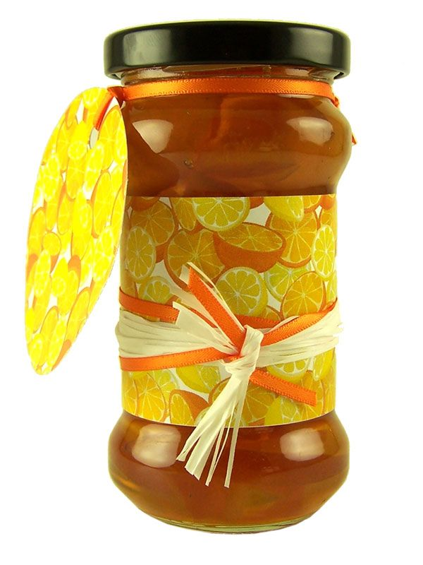 Jar Wraps - Orange & Lemon