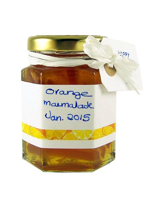 Jar Wraps - Orange & Lemon Stripe