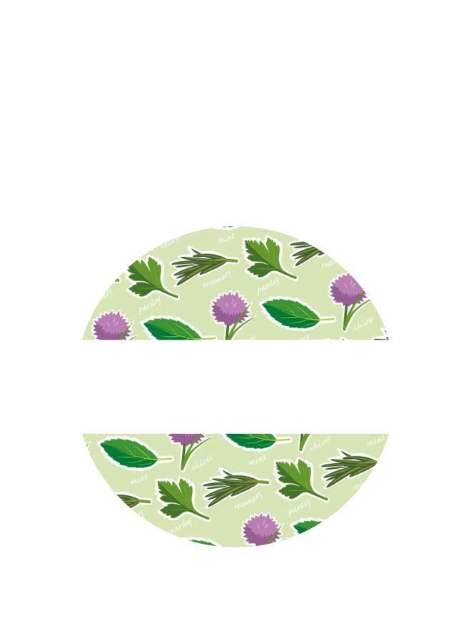 Lid Labels 40mm Garden Herbs