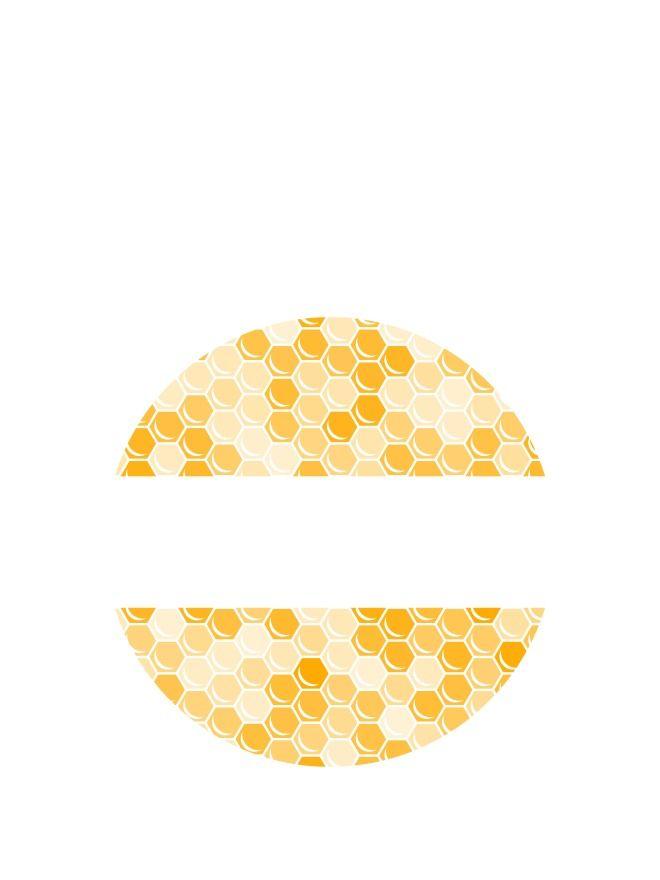 Lid Labels 40mm Honeycomb