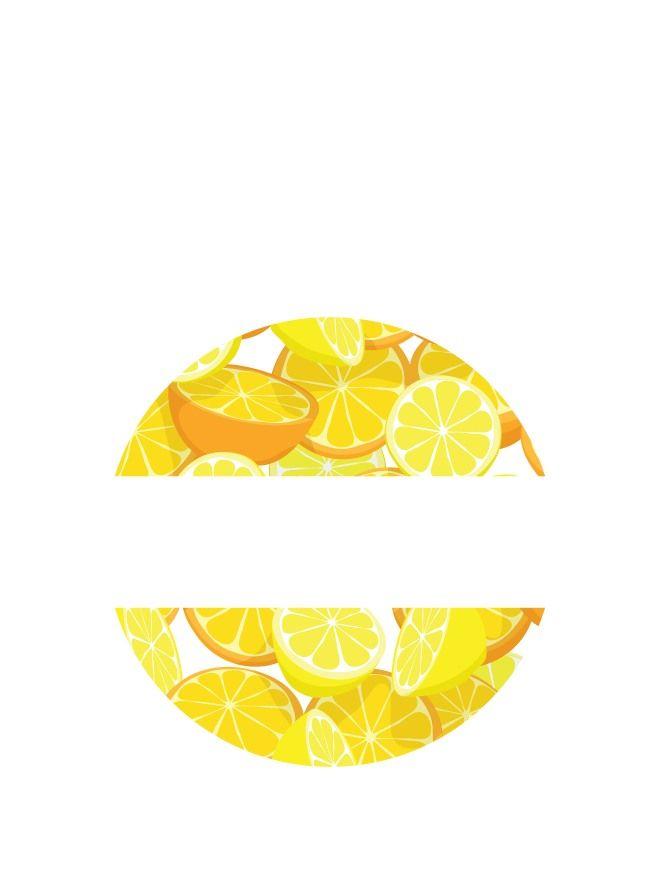 Lid Labels 40mm Orange & Lemon