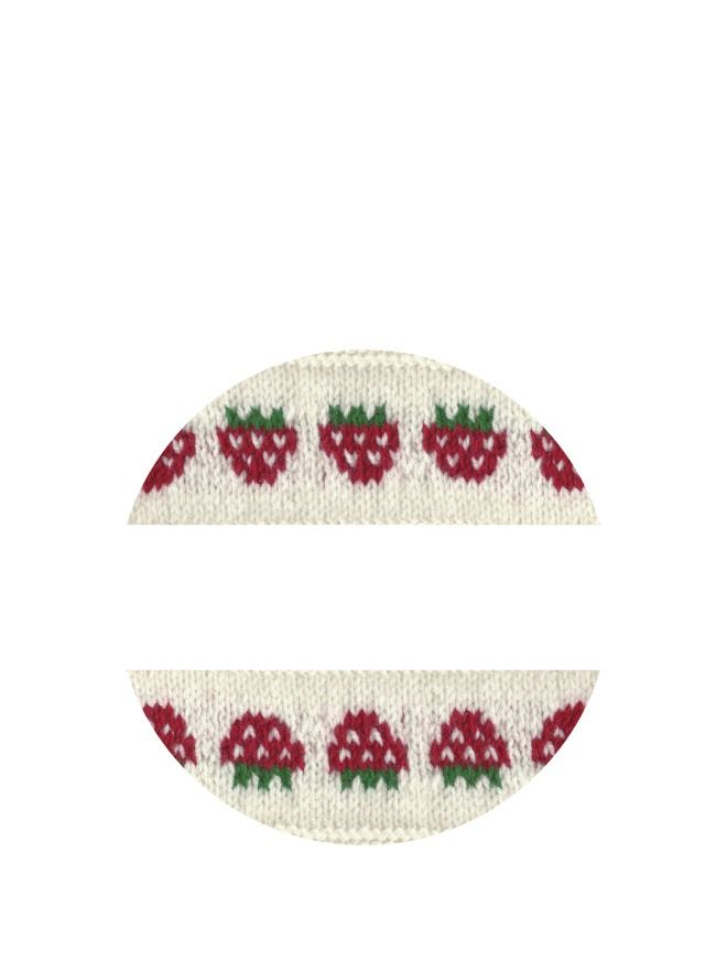 Lid Labels 40mm Strawberry Knit