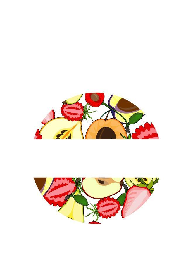 Lid Labels 40mm Summer Fruits