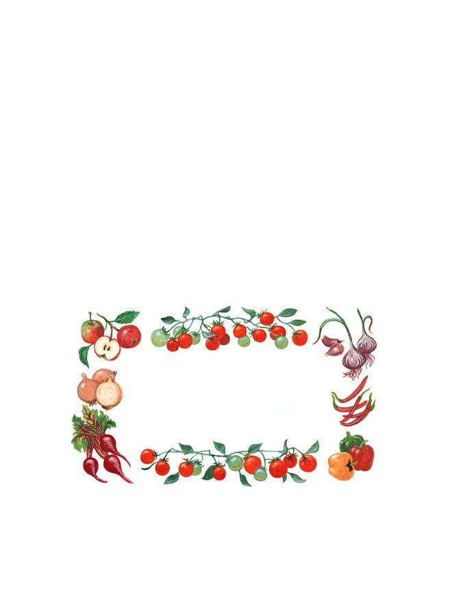 Classic Vegetable Labels 63x38mm