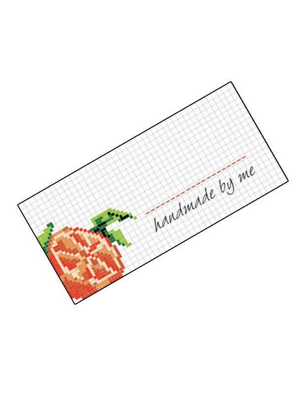 Jam Jar Labels Cross Stitch Orange