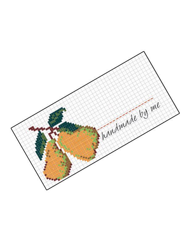 Jam Jar Labels Cross Stitch Pear