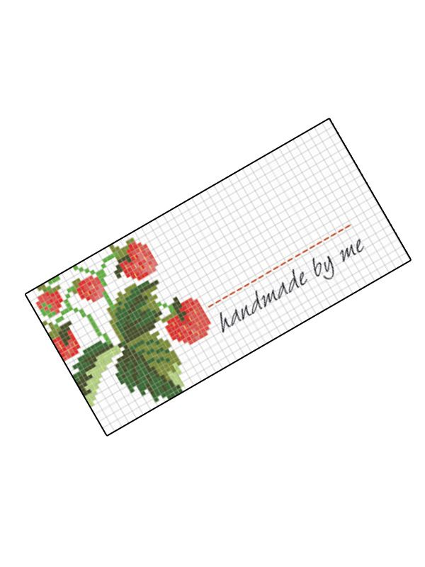 Jam Jar Labels Cross Stitch Strawberry