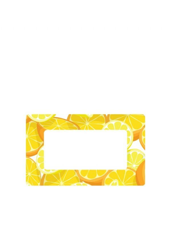 Jar Labels 63x38mm Orange & Lemon