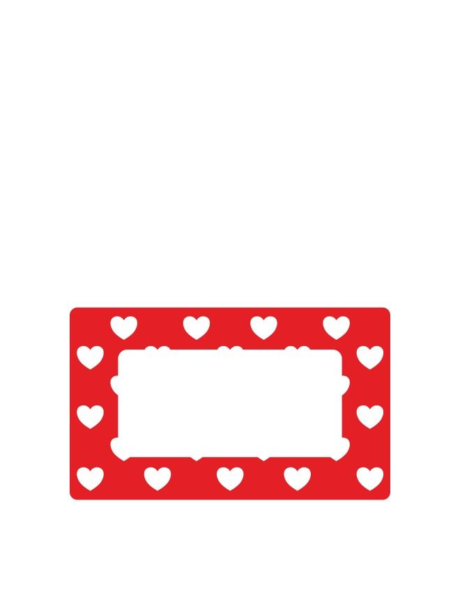 Jar Labels 63x38mm Red Hearts