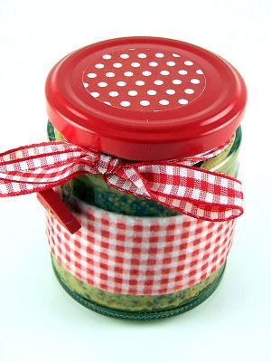 Love jam jars | F Red Spotty Topper