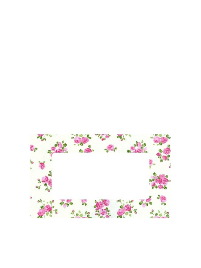 Summer Frocks - Small Sprig Labels 63x38mm