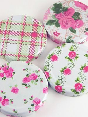 Love jam jars | Jar Lid 063 Summer Frocks