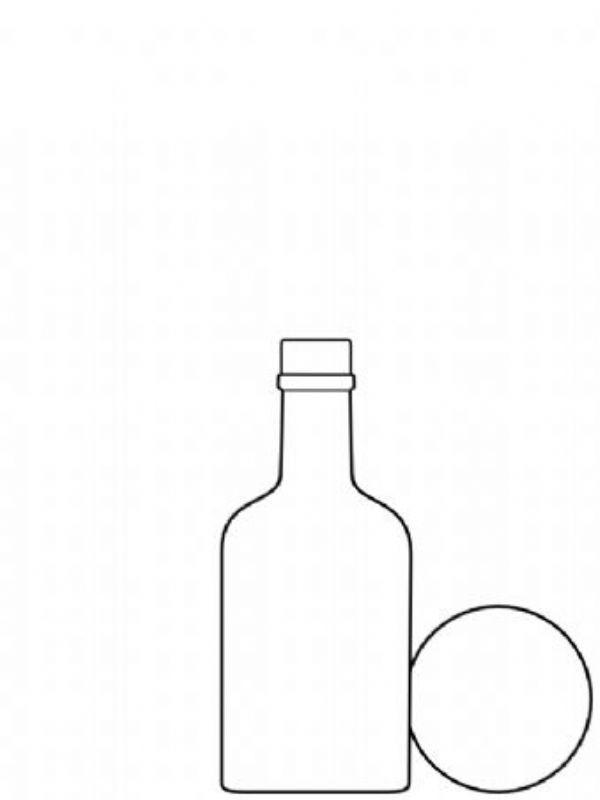 Glass Arrenzo Bottle 200ml 2