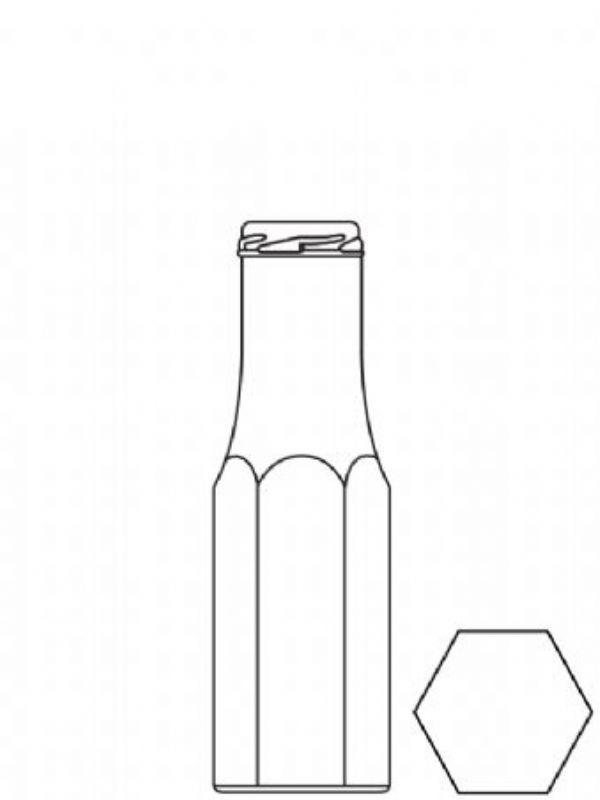 Glass Bottle Hexagonal Sauce Bottle 250ml 2
