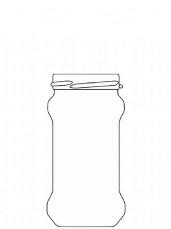 Jam Jars Round Glass Chutney 212ml